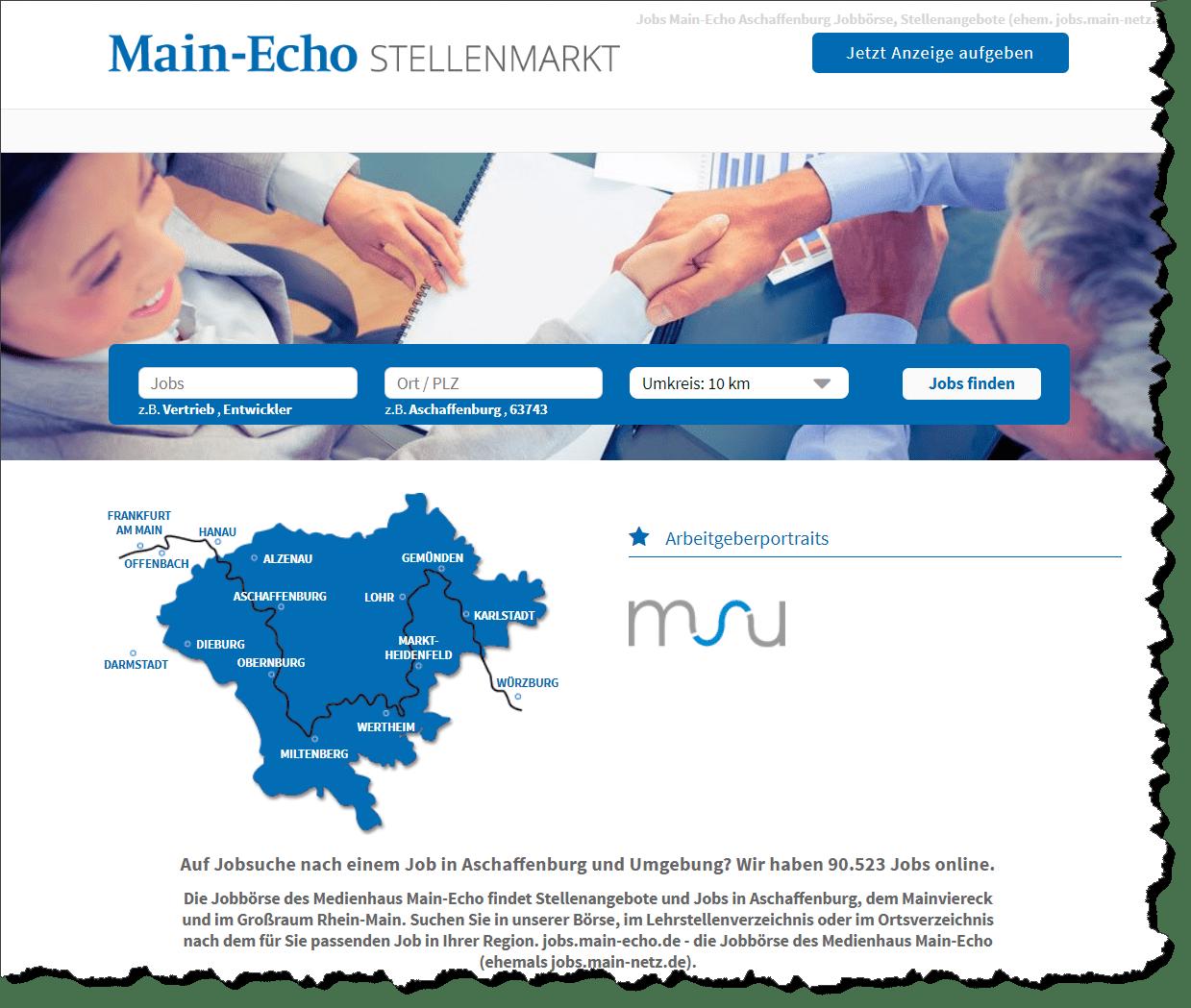 Stellenmarkt - Medienhaus Main-Echo